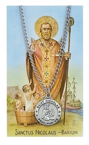 St. Nicholas Pendant and Prayer Card Set