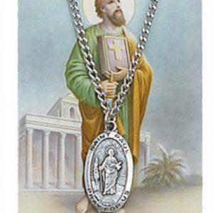 St. Paul Pendant and Prayer Card Set