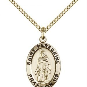 St. Peregrine Medal - 14 Karat Gold Filled - Medium