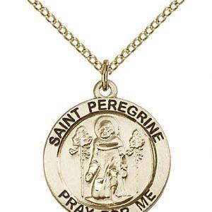 St. Peregrine Medal - 14 Karat Gold Filled - Medium