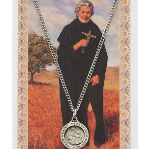 St Peregrine Pendant and Prayer Card Set