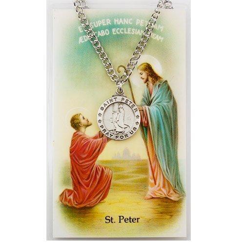 St. Peter Pendant and Prayer Card Set