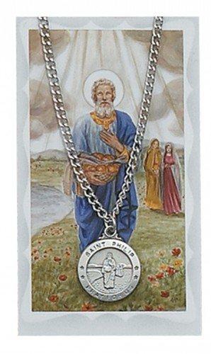 St. Philip Pendant and Prayer Card Set