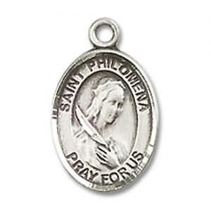 St. Philomena Charm - Sterling Silver  (#M0038)