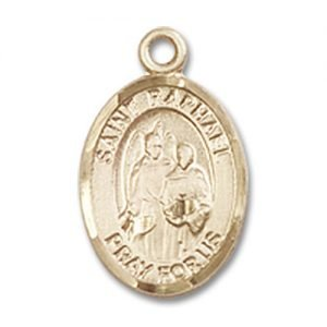 St. Raphael the Archangel Charm - 14 Karat Gold Filled (#M0029)
