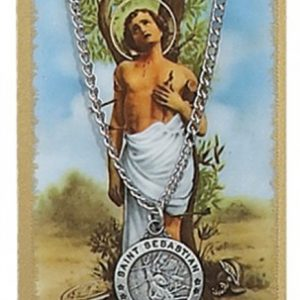 St. Sebastian Pendant and Prayer Card Set