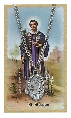 St. Stephen Pendant and Prayer Card Set