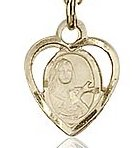 14kt Gold Filled St. Theresa Charm