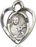 Heart Shaped St. Theresa Charm