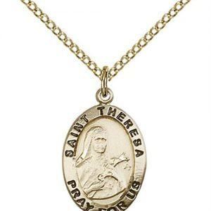 St. Theresa Medal - 14 Karat Gold Filled - Medium