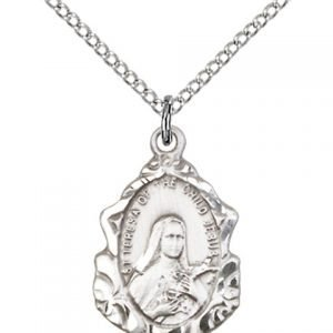 St. Theresa Medal - Sterling Silver - Medium