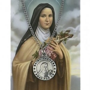 St. Therese Pendant and Prayer Card Set