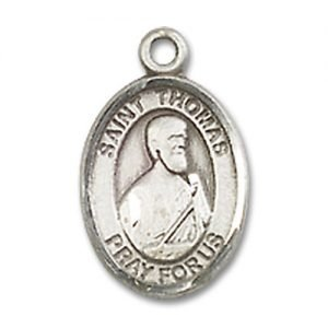 St. Thomas the Apostle Charm - Sterling Silver (#M0041)