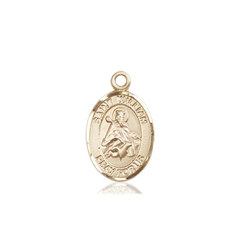 dbffc091c69 St William of Rochester Tiny Charm - 14 KT Gold - Catholic Saint Medals