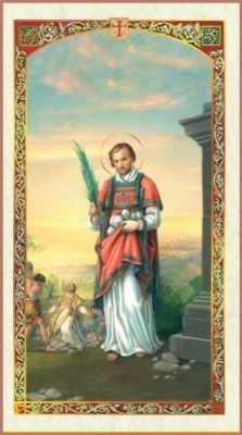 St. Stephen Holy Card