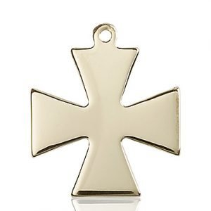 14kt Gold Surfer Cross Medal #87434