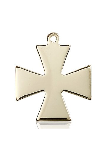 14kt Gold Surfer Cross Medal #87434