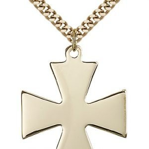 Gold Filled Surfer Cross Necklace #87432