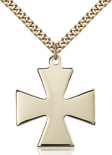 Gold Filled Surfer Cross Necklace #87432