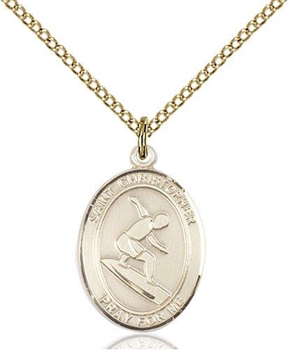 ab74a47774f78 Christopher Surfing Medal Medium - 14 Karat Gold Filled