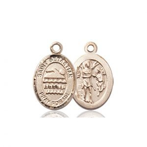 14kt Gold St. Sebastian/Swimming Medal