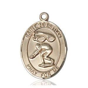 14kt Gold St. Sebastian / Swimming Medal