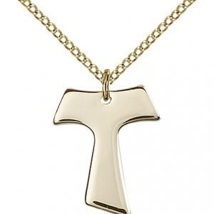 Gold Filled Tau Cross Necklace #87569