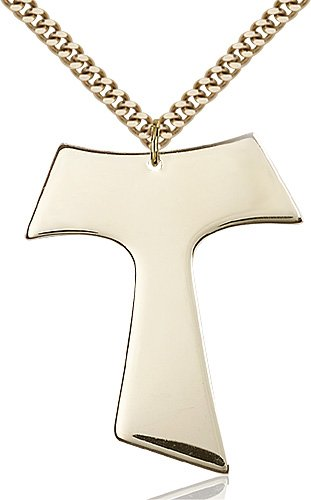 Gold Filled Tau Cross Necklace #87577