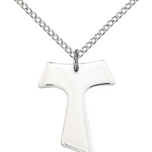 Sterling Silver Tau Cross Necklace #87572