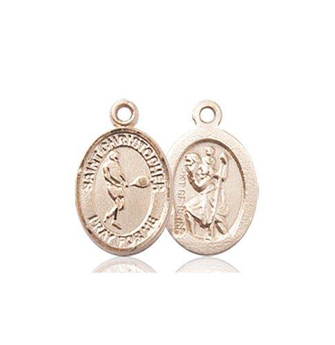 14kt Gold St. Christopher/Tennis Medal