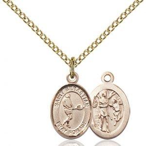 Gold Filled St. Sebastian/Tennis Pendant