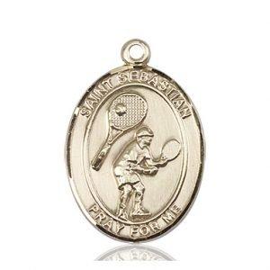 14kt Gold St. Sebastian / Tennis Medal