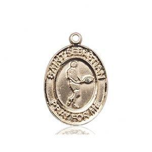 14kt Gold St. Sebastian/Tennis Medal