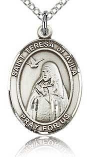 Religious necklace with image of Saint Teresa of Avila