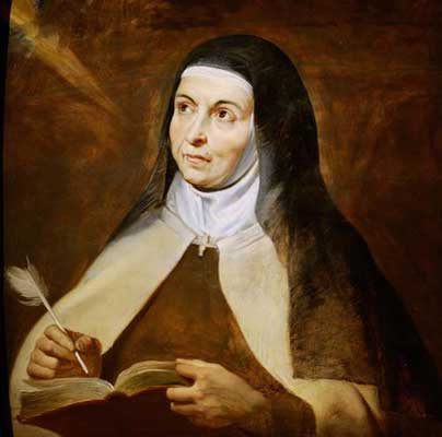 St Teresa with Book and Quill