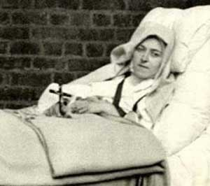 Therese ill and in bed