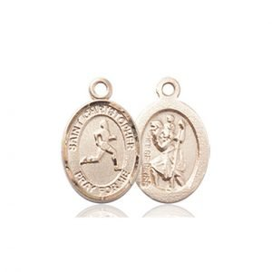 14kt Gold St. Christopher/Track & Field Medal