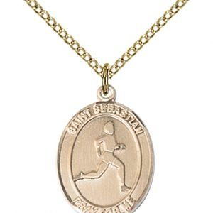 Gold Filled St. Sebastian/Track & Field Pendant