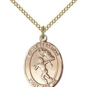 Gold Filled St. Sebastian / Track & Field Pendant
