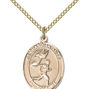 Gold Filled Guardian Angel/Track & Field-Men Pendant