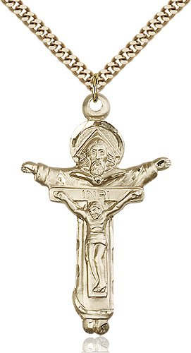 Gold Filled Trinity Crucifix Necklace #87609