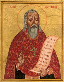 Icon depicting St. Valentine