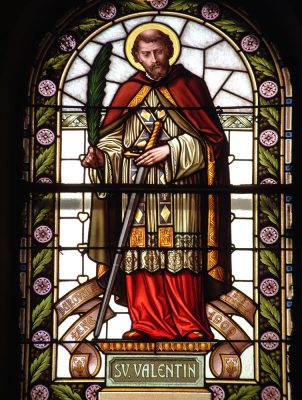 St Valentine Stained Glass Window