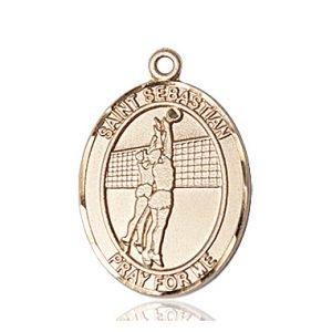 14kt Gold St. Sebastian / Volleyball Medal