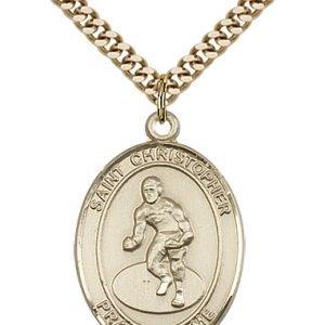 Gold Filled St. Christopher/Wrestling Pendant