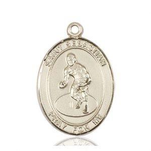 14kt Gold St. Sebastian / Wrestling Medal