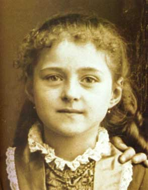 Photo of a young Therese Martin who is now known as St. Therese of Lisieux